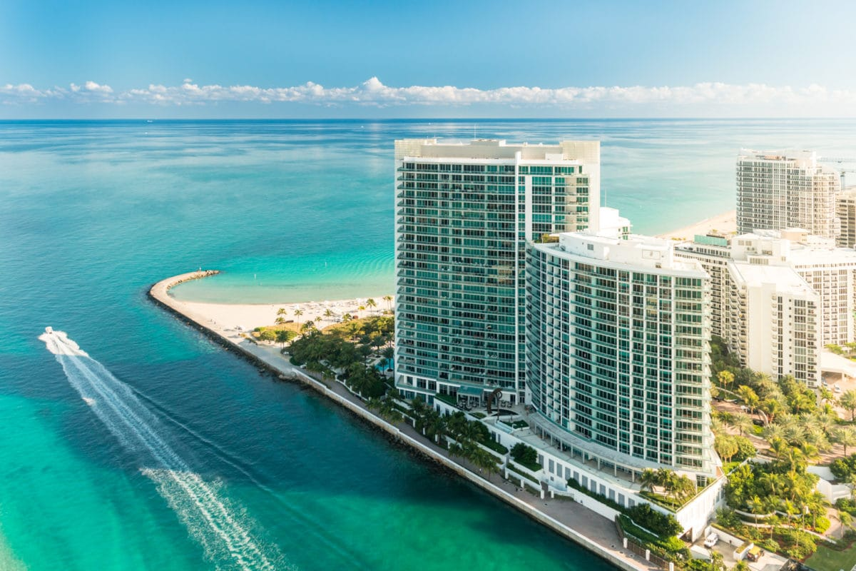 One Bal Harbour Condo in Miami Florida Aerial View