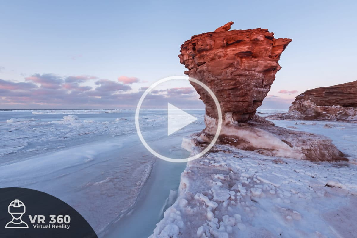 Teapot Rock en Invierno