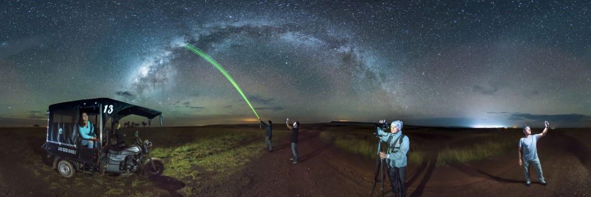 Disfrutando de una espléndida Vía Láctea con amigos en La Macarena, Meta