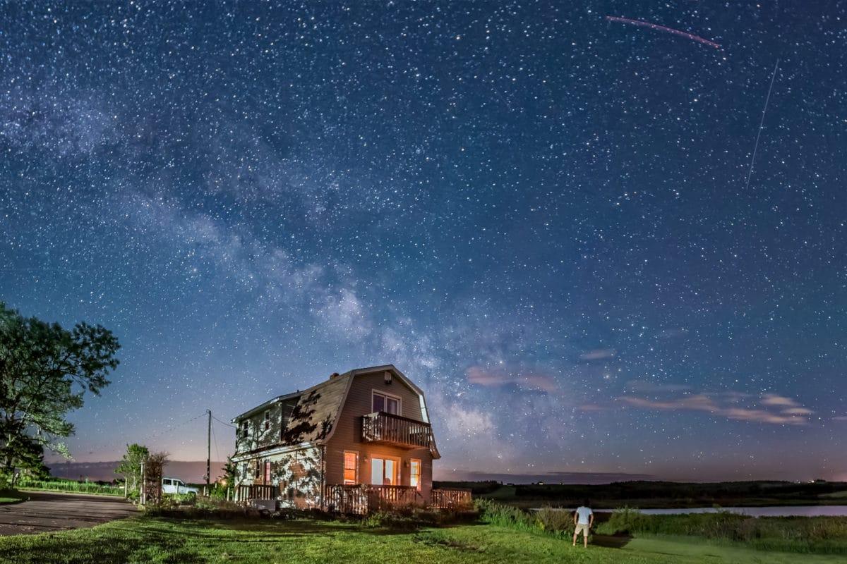 Vía Láctea en Canadá