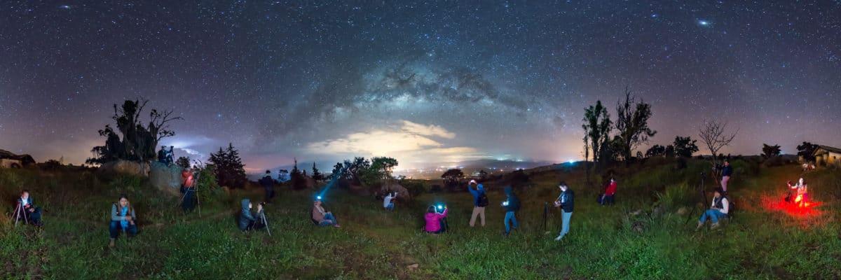 Estudiantes ven por primera vez la Vía Láctea en Boyacá