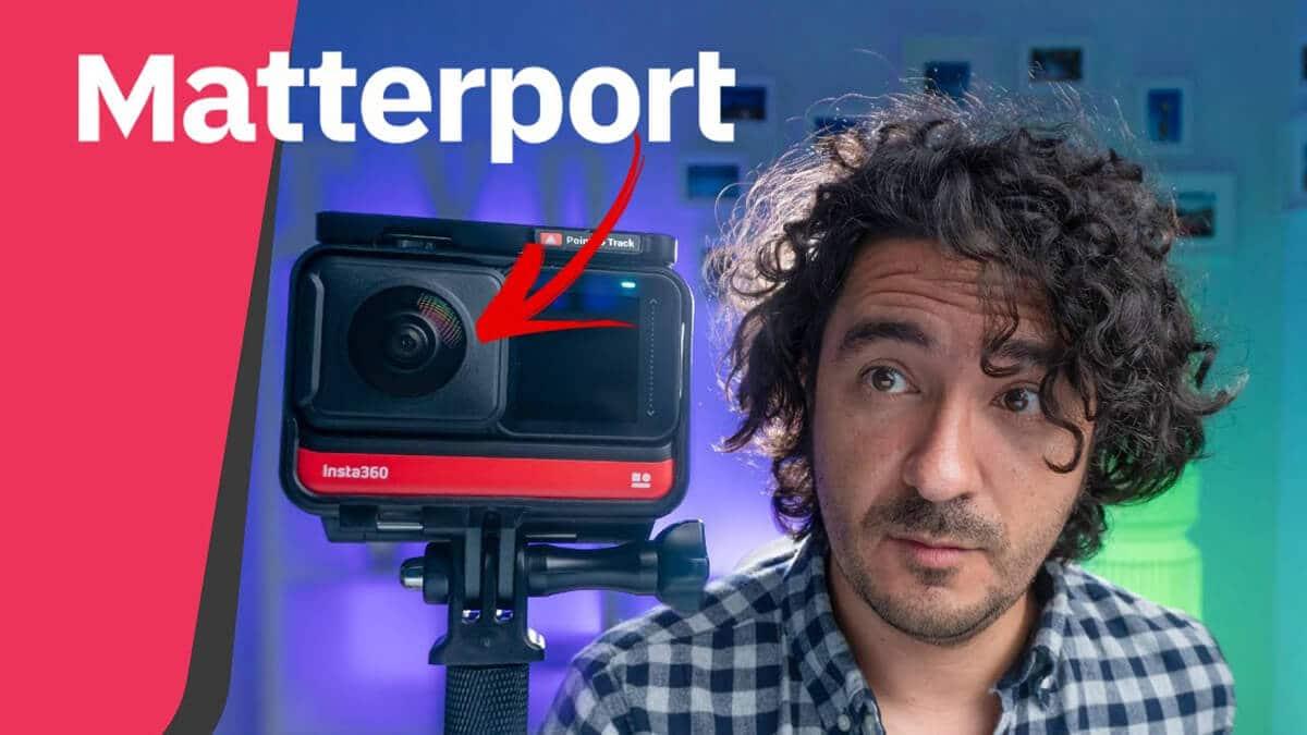 Mario Carvajal te muestra un ejemplo de Matterport en una casa, tour virtual 360 hecho con Insta360